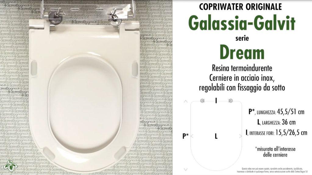 Copriwater. DREAM. Galassia. Sedile ORIGINALE. Bianco