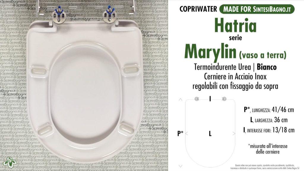 Copriwater. MARYLIN. Hatria. Sedile COMPATIBILE. Bianco