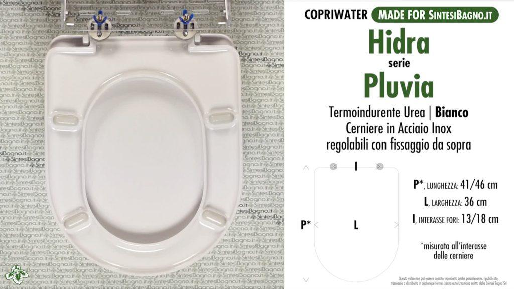 Copriwater. PLUVIA. Hidra. Sedile COMPATIBILE. Bianco