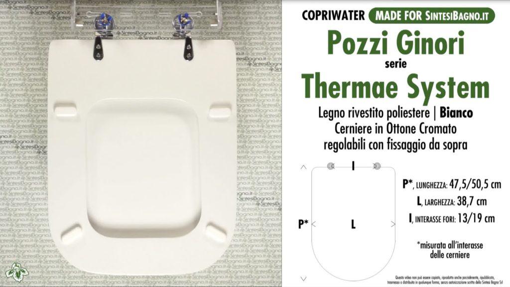 Copriwater. THERMAE SYSTEM. Pozzi Ginori. Sedile DEDICATO. Bianco
