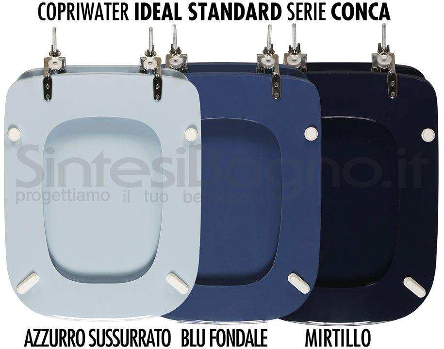 Copriwater CONCA colore azzurro sussurrato, blu fondale, mirtill