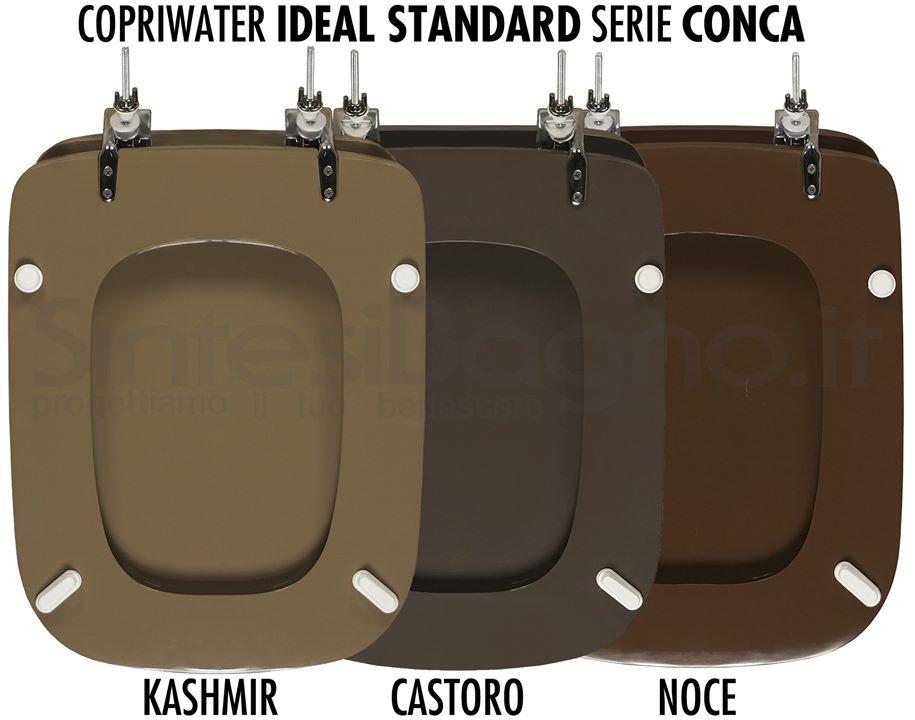 Copriwater CONCA colore castoro, noce