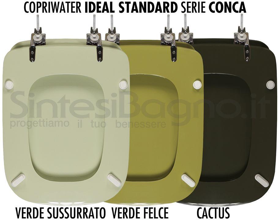 Copriwater CONCA colore verde sussurato, verde felce, verde cactus
