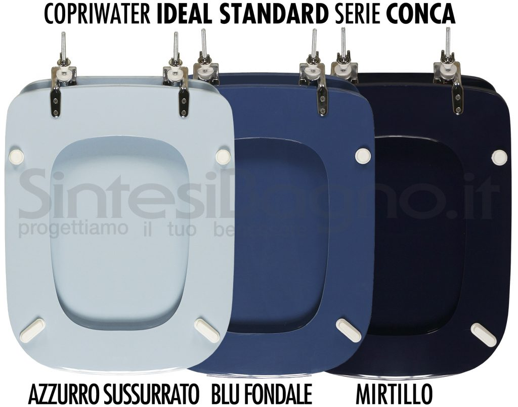 Copriwater Ideal Standard Conca Azzurro e blu