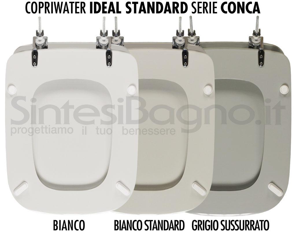 Copriwater Ideal Standard Conca bianco, bianco standard, grigio sussurrato
