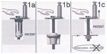 I copriwater con fissaggio ad espansione da sopra (attacco dall'alto). Tassello o ancoretta (losanga)?