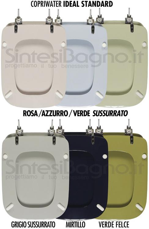 Ideal Standard e i colori dei sanitari: i sussurati (rosa, azzurro, verde, grigio), il mirtillo e il felce