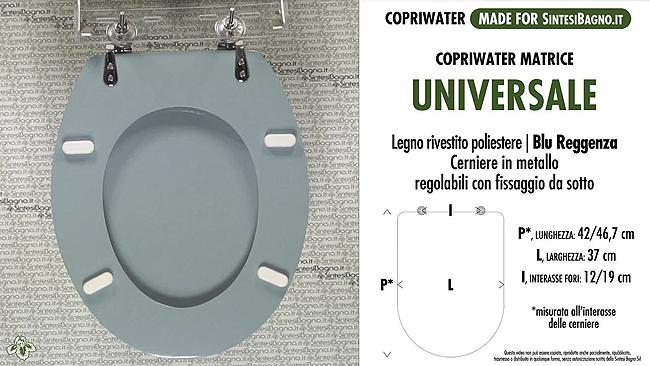 Copriwater UNIVERSALE SINTESIBAGNO - la forma ovale