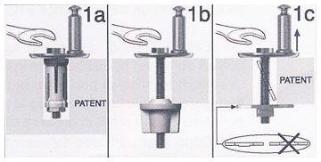 Tipi di fissaggio piattina al vaso