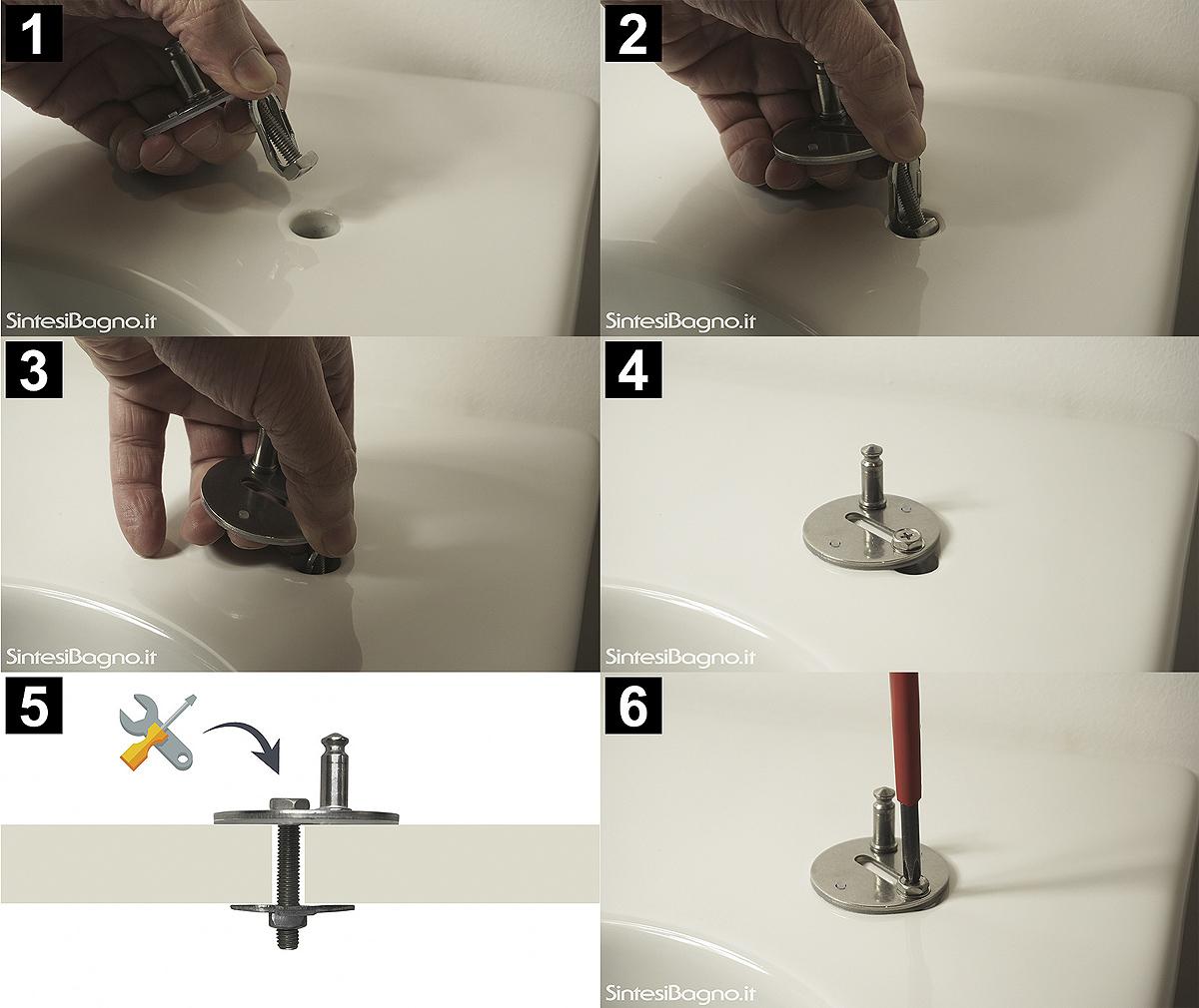 Sequanza installazione copriwater con sistema a losanga