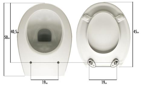 Posizionamento copriwater Zero light PLUS sul vaso